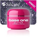 glitter 30 Sparkle Blue base one żel kolorowy gel kolor SILCARE 5 g